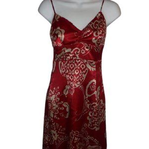 For Fitting Red Satin Dress Size 1  FIRM